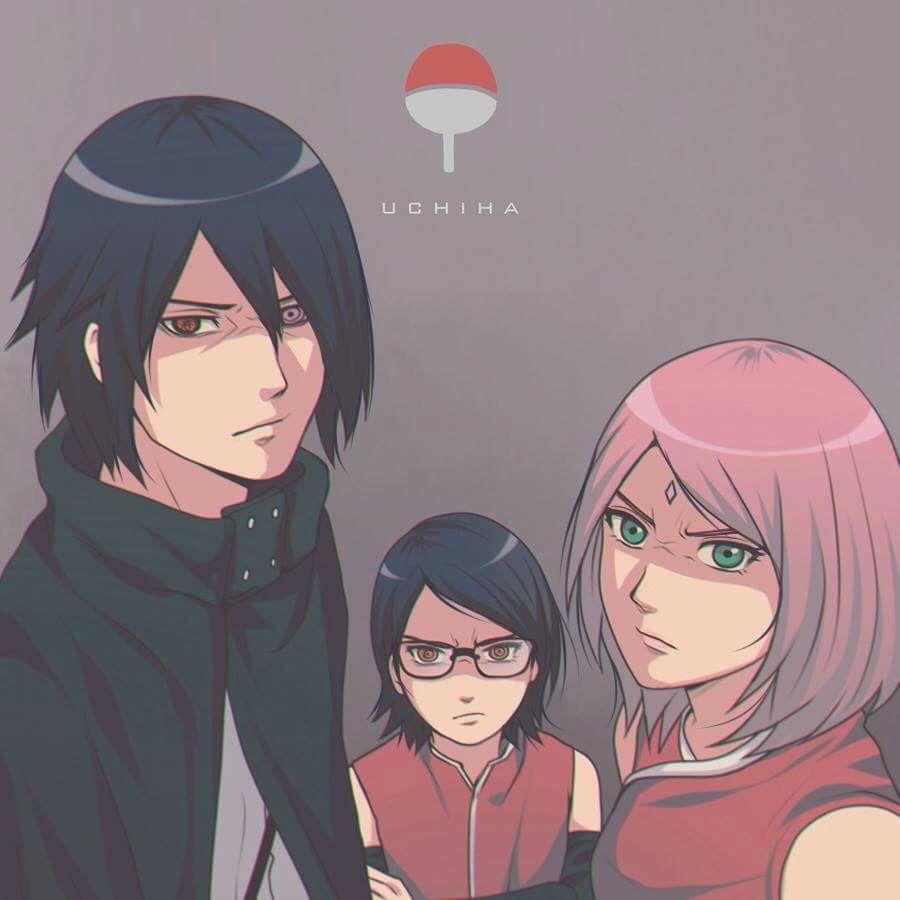Uchiha Family: Sakura, Sasuke And Sarada