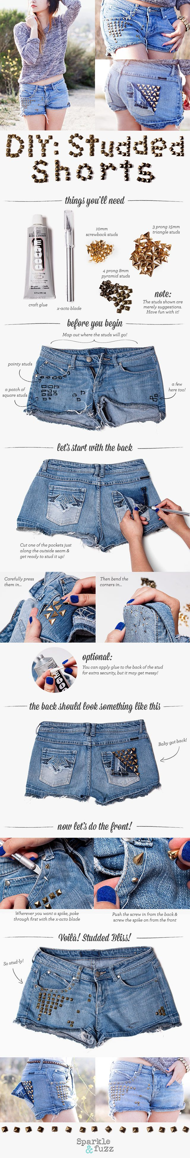 16 DIY Fashion Projects With Studs and Spikes