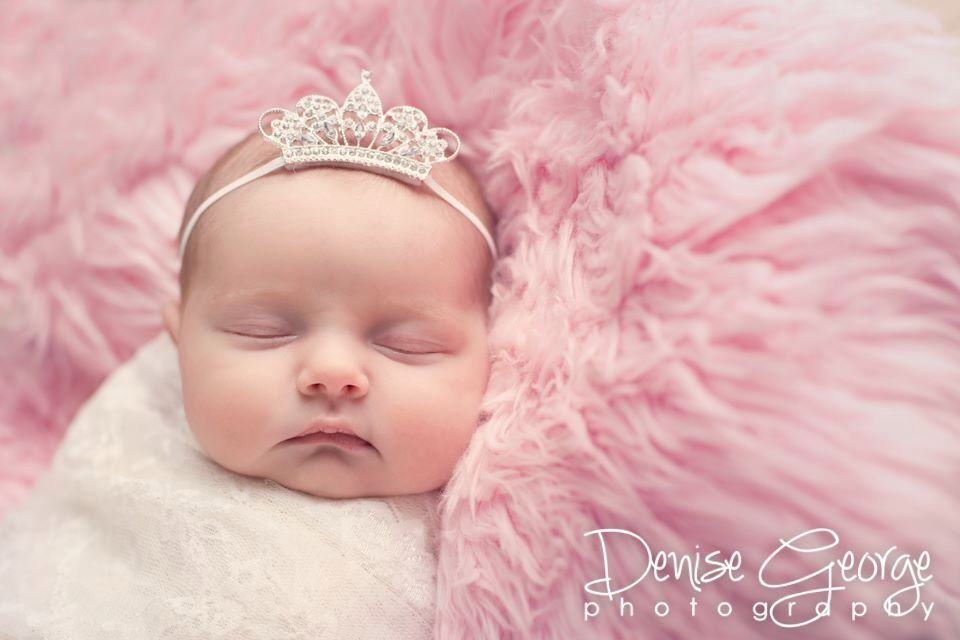 Simple newborn girl photography. Tiara by Sweet Em\'s Boutique | baby ...
