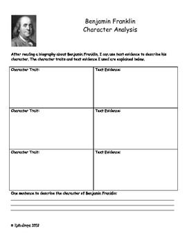 Character Analysis For A Biography Over Benjamin Franklin Space