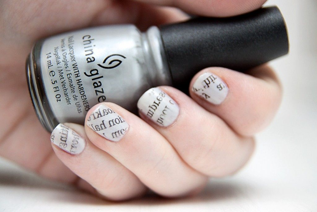 Creative Nail Art DIY: Newspaper Nails | Newspaper nails, Creative ...