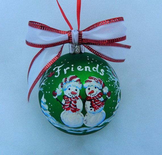 handpainted friends ornament personalized friends gift etsy