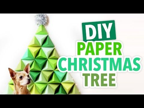 How-To Geometric Paper Christmas Tree Christmas deco Pinterest