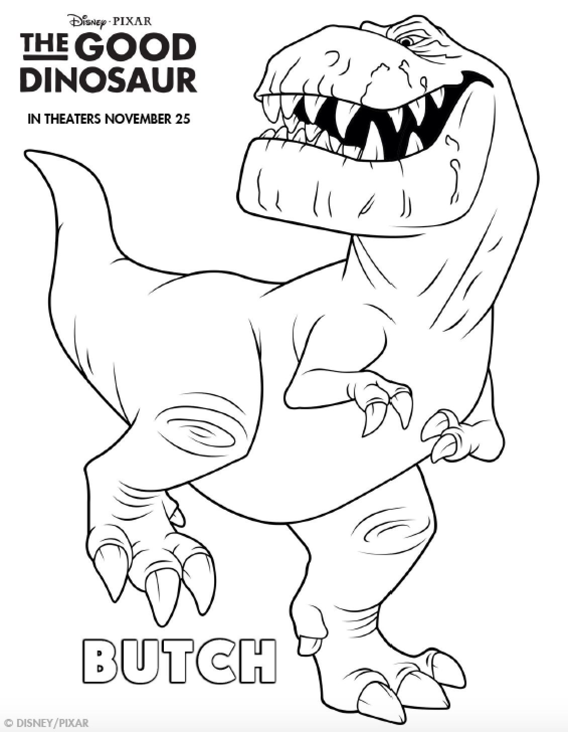The Good Dinosaur Coloring Pages | Pinterest