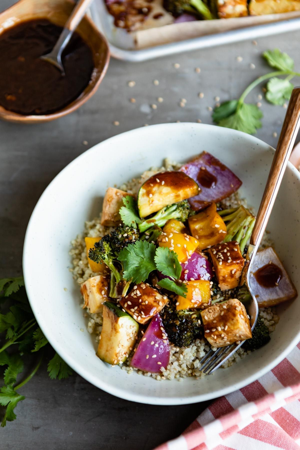 Sheet Pan Hoisin Tofu And Vegetables