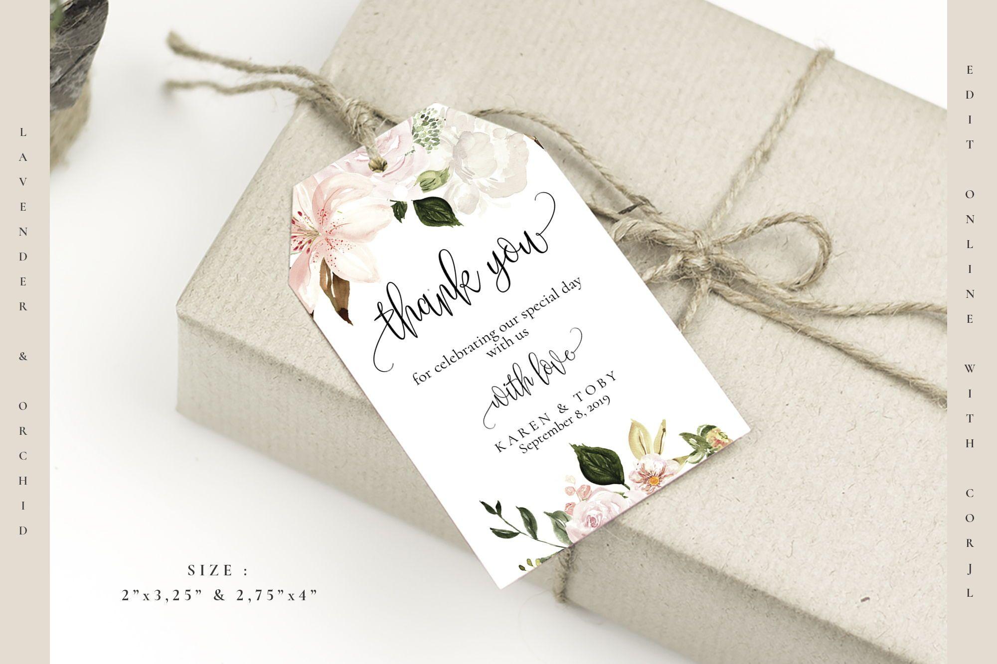 Printable Gift Tags For Wedding Favors