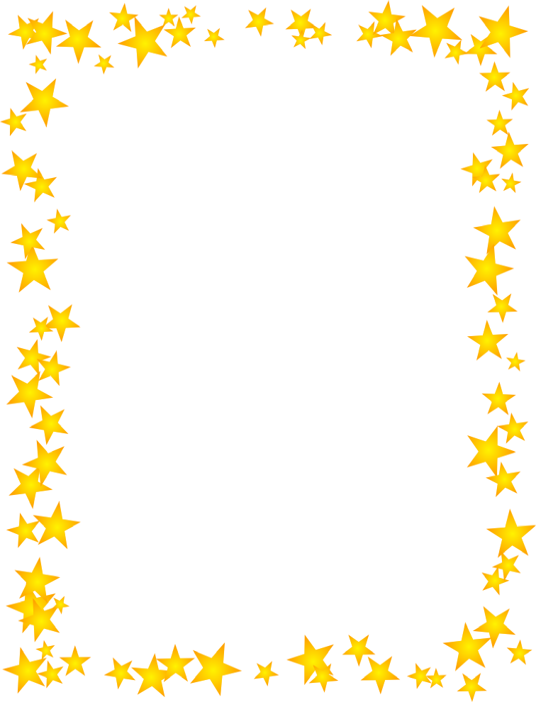 Gold stars scattered border מסגרות pinterest star