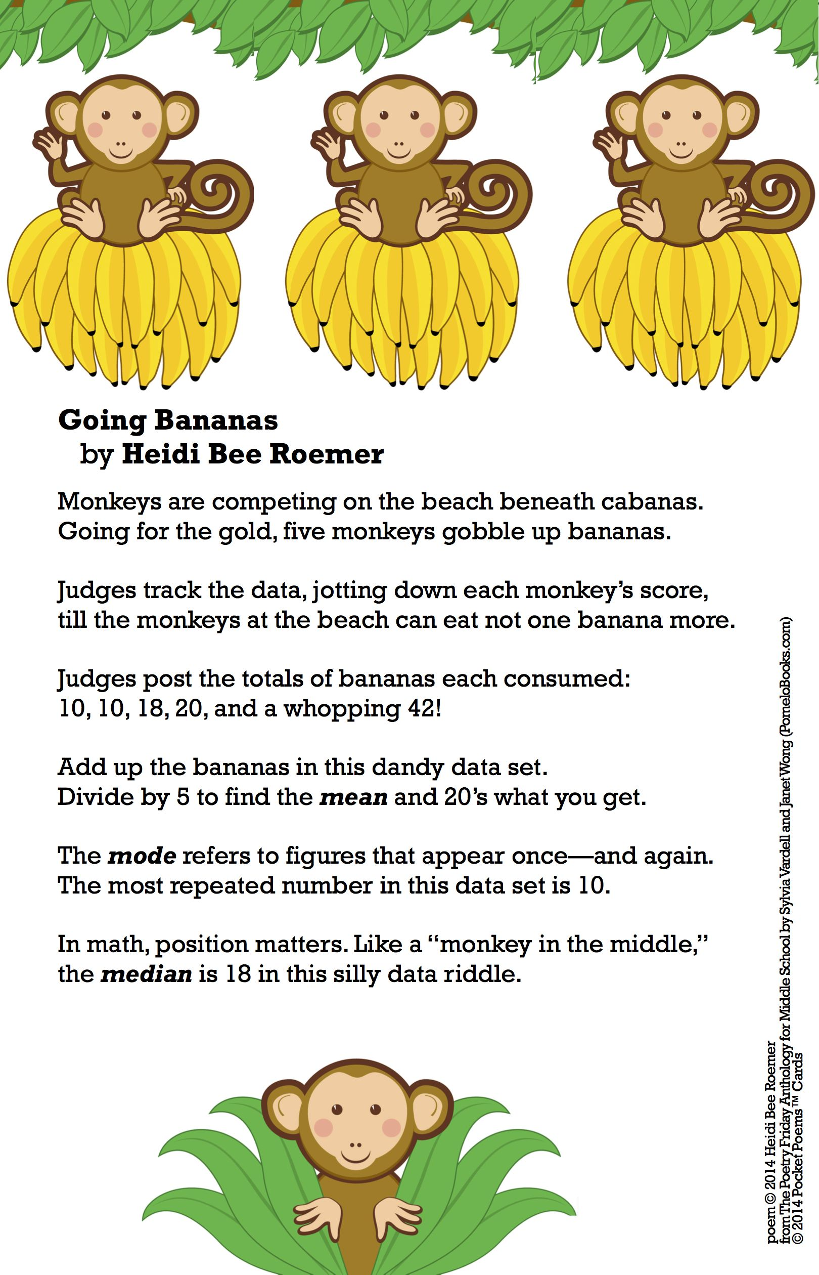 Ready For A Poem About Math Share Going Bananas By
