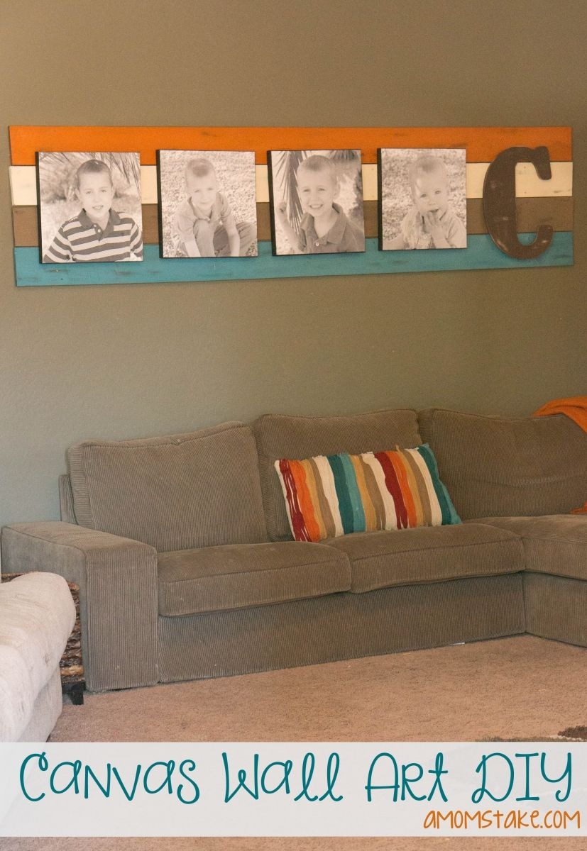 Diy Canvas Wall Art Easy Living Room Decorating Ideas Focal