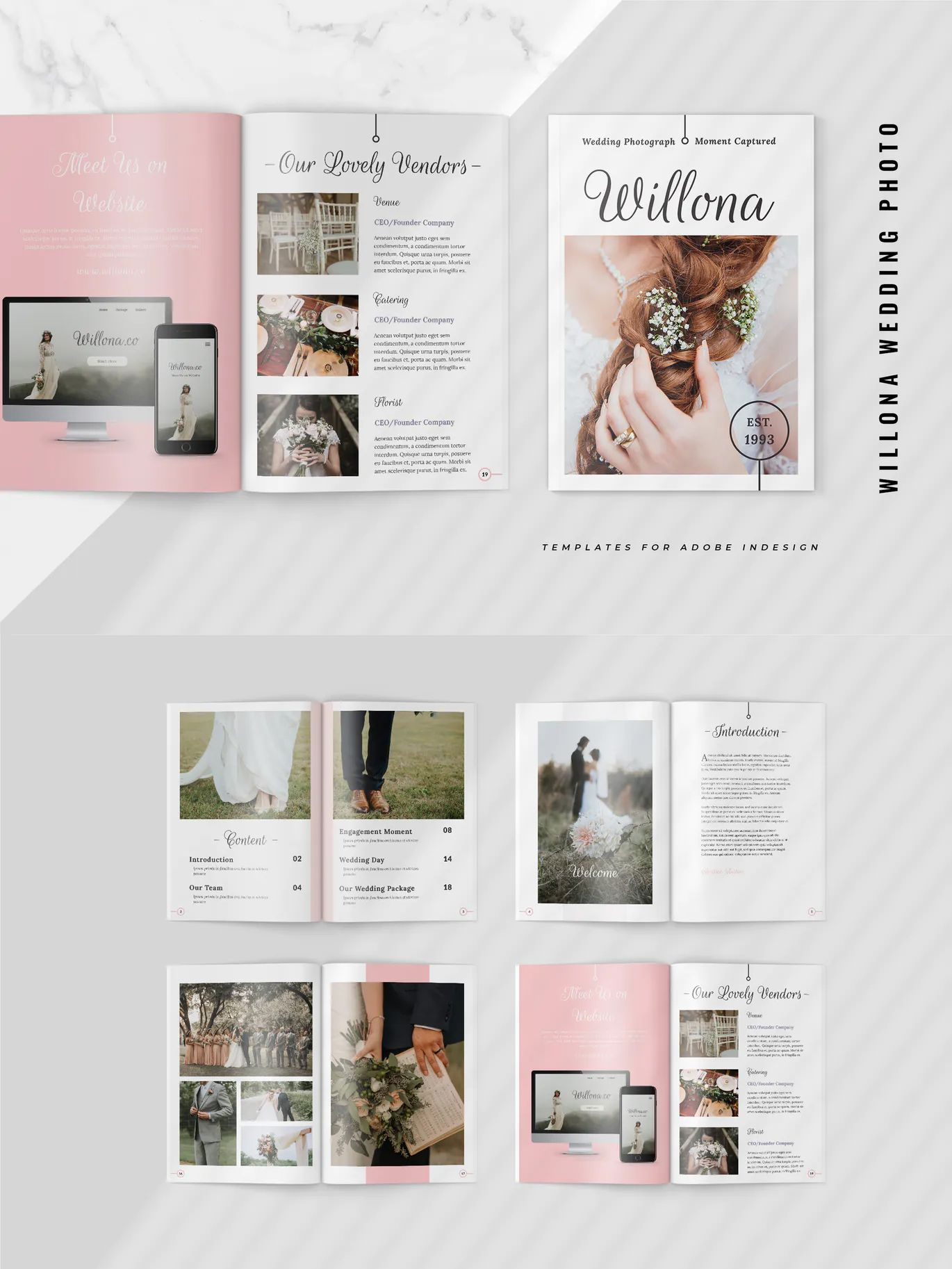 Wedding Photography Pricing Guide Brochure Template Indesign