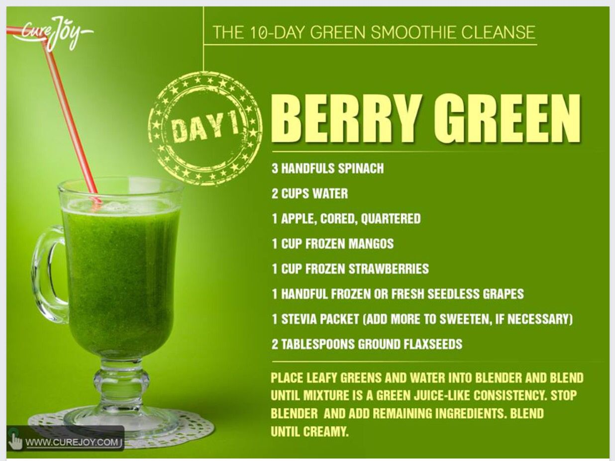 Berry Green Smoothie- No Stevia needed! 10 Day Green Smoothie, Green  Smoothie Recipes