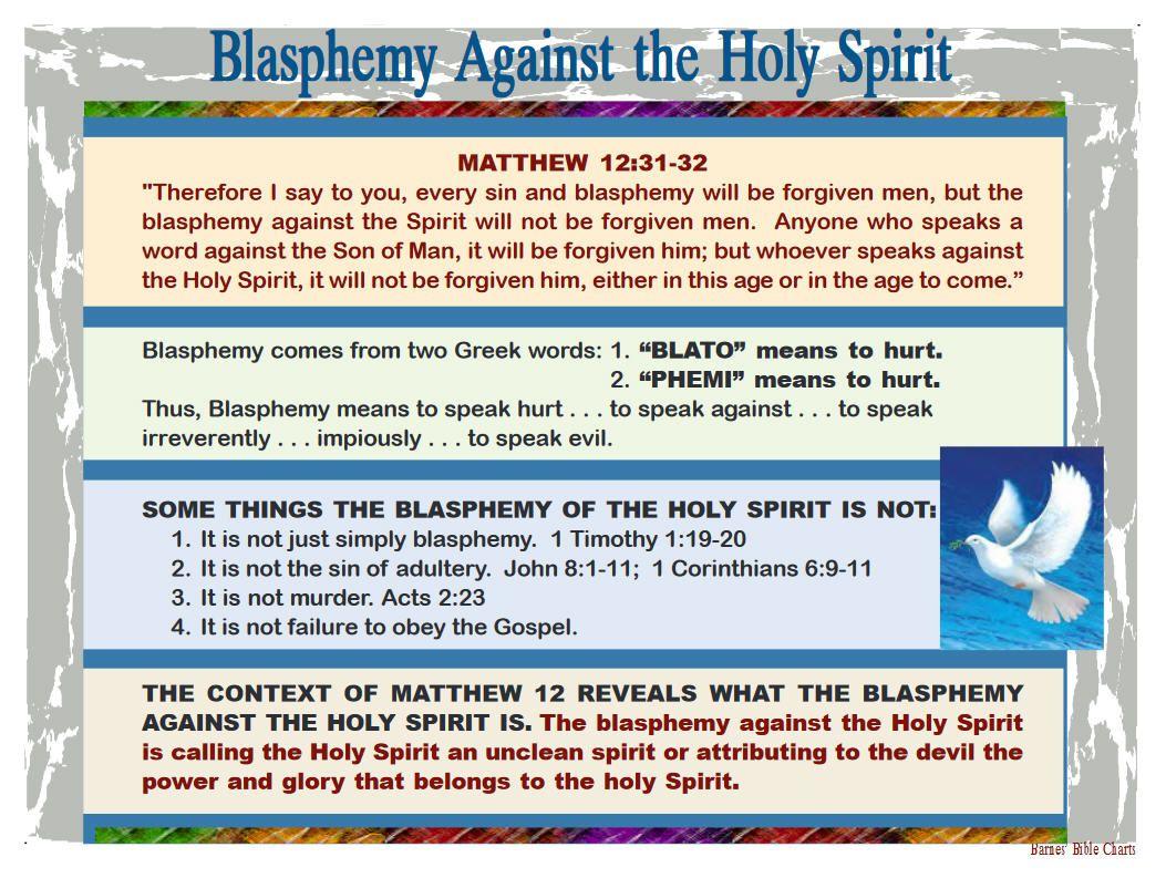 Blasphemy against the Holy Spirit | Barnes Bible Charts HOLY