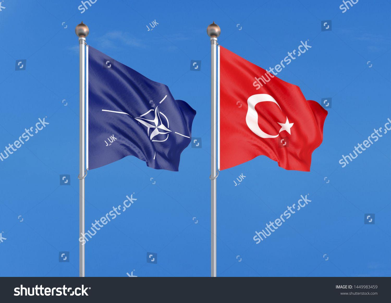 Flags Of Nato North Atlantic Treaty Organization And Turkey 3d Illustration Illustration Ad Sponsored North Illustration Stock Illustration Flag