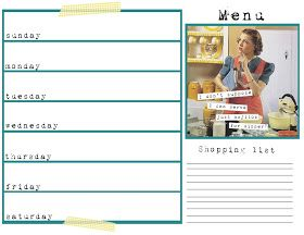 Dimples and Pig Tales: Anne Taintor Inspired Menu Planner & Recipe Cards {printable}