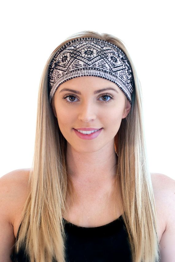 Aztec Fitness Headband Printed Headband by CaliStyleHeadbands Thick  Headbands c399fb8f64b