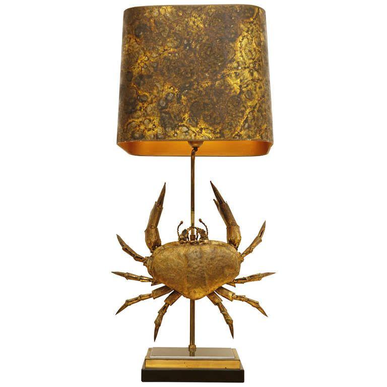 Daniel D Haeseleer Crab Lamp 1stdibs Com Lamp Vintage Table Lamp Table Lamp