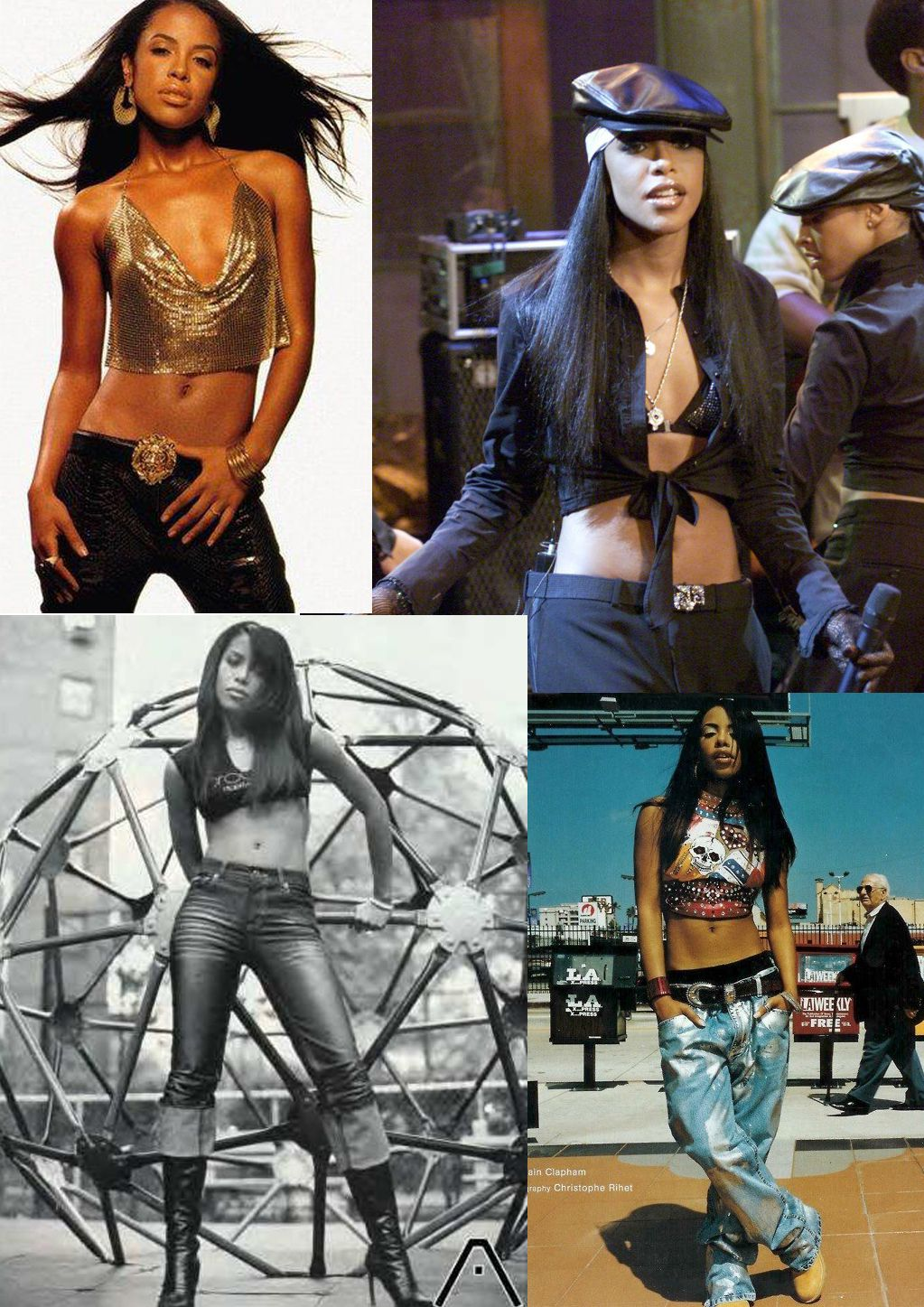 Top fashion trends of the 90s - Aaliyah 90s Fashion Aaliyah S Signature Style As She Got Older Crop Top With Pants