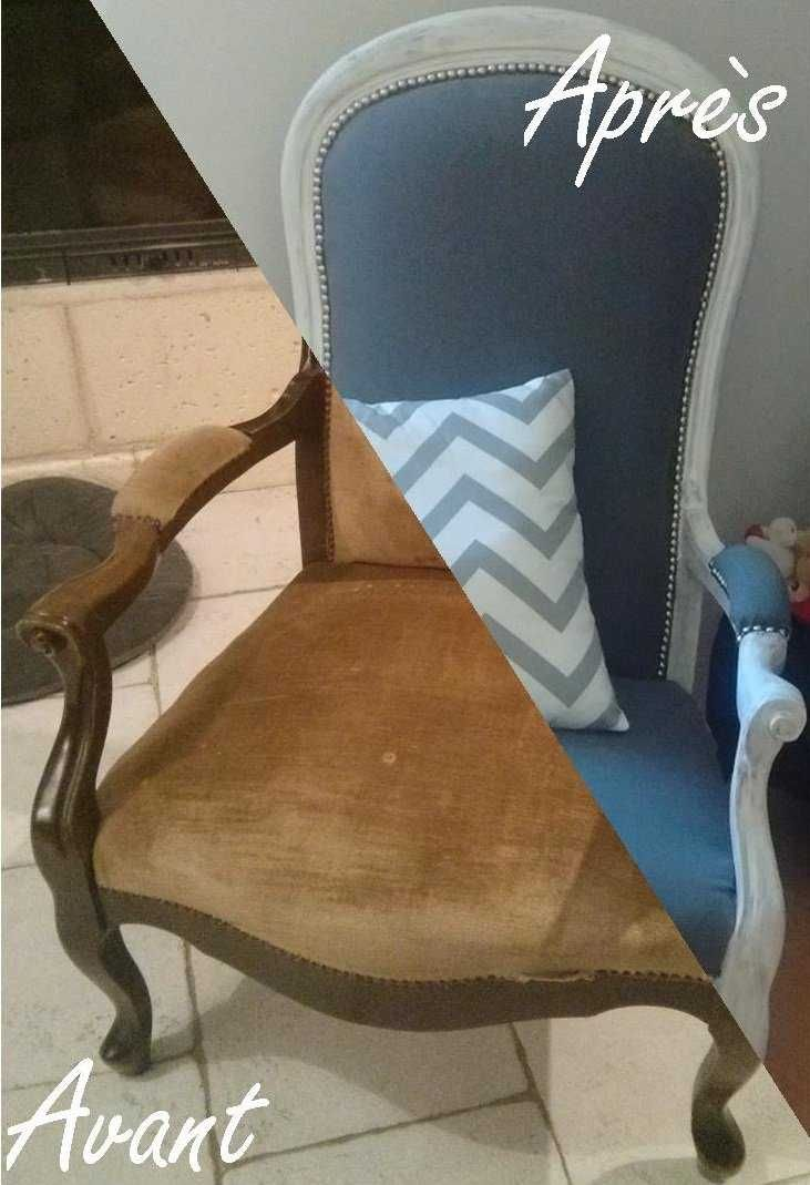 r novation d un vieux fauteuil voltaire d coration. Black Bedroom Furniture Sets. Home Design Ideas