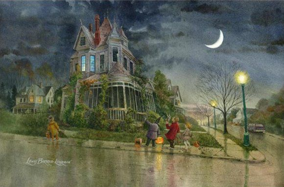 Haunted Halloween Art Prints of Lewis Barrett Lehrman - Strange ...