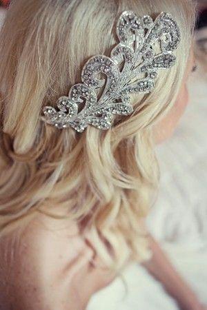 SALE Most AdoredBianca deco glamour crystal by FeathersandFrills, $120.00 wedding-hair
