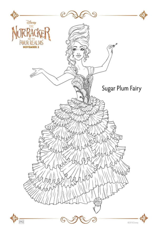 The Nutcracker and the Four Realms Holiday Coloring Pages | The ...