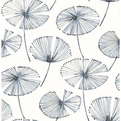 2656004025 Paradise Navy Fronds by AStreet Prints
