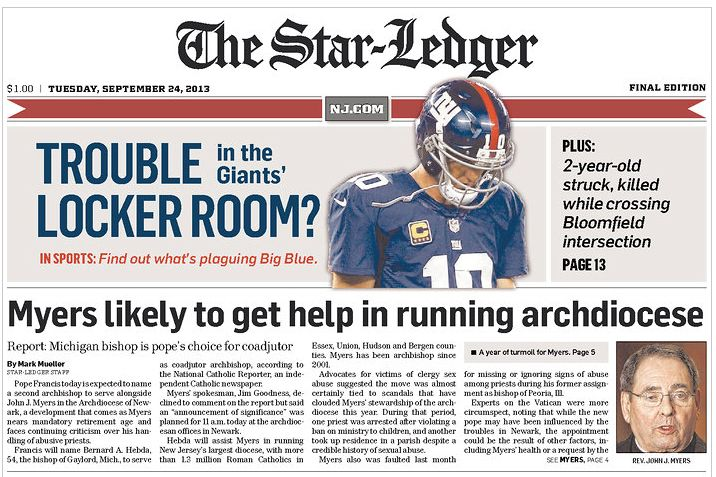 Get the latest New Jersey news from Newark-based Star-Ledger
