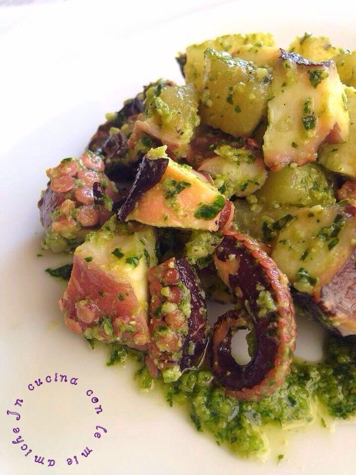 Polpo+e+patate+al+pesto