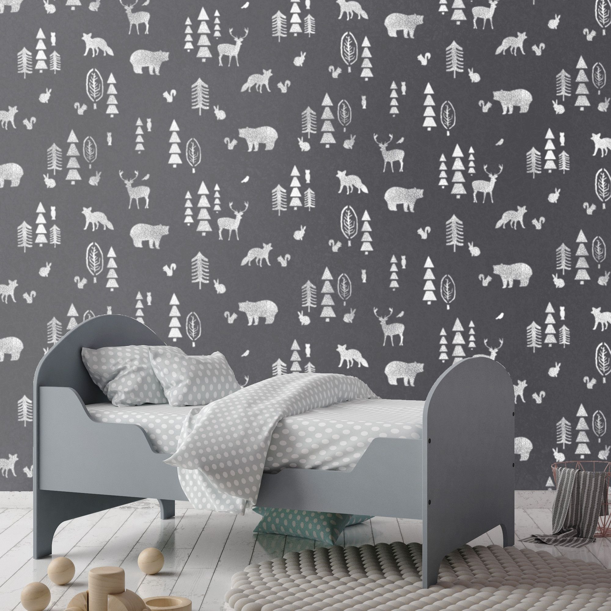 Nordic Forest Stencil Home Decor