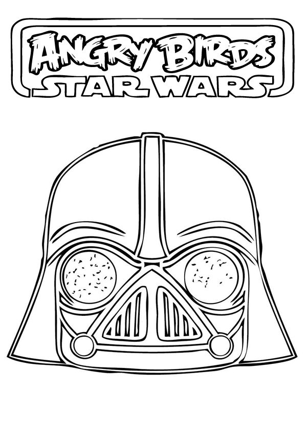 angry birds star wars coloring pages - Angry Birds Star Wars Coloring Pages