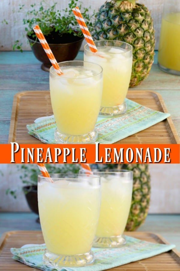 Pineapple Lemonade {3 Ingredient Punch} - Miss in the Kitchen