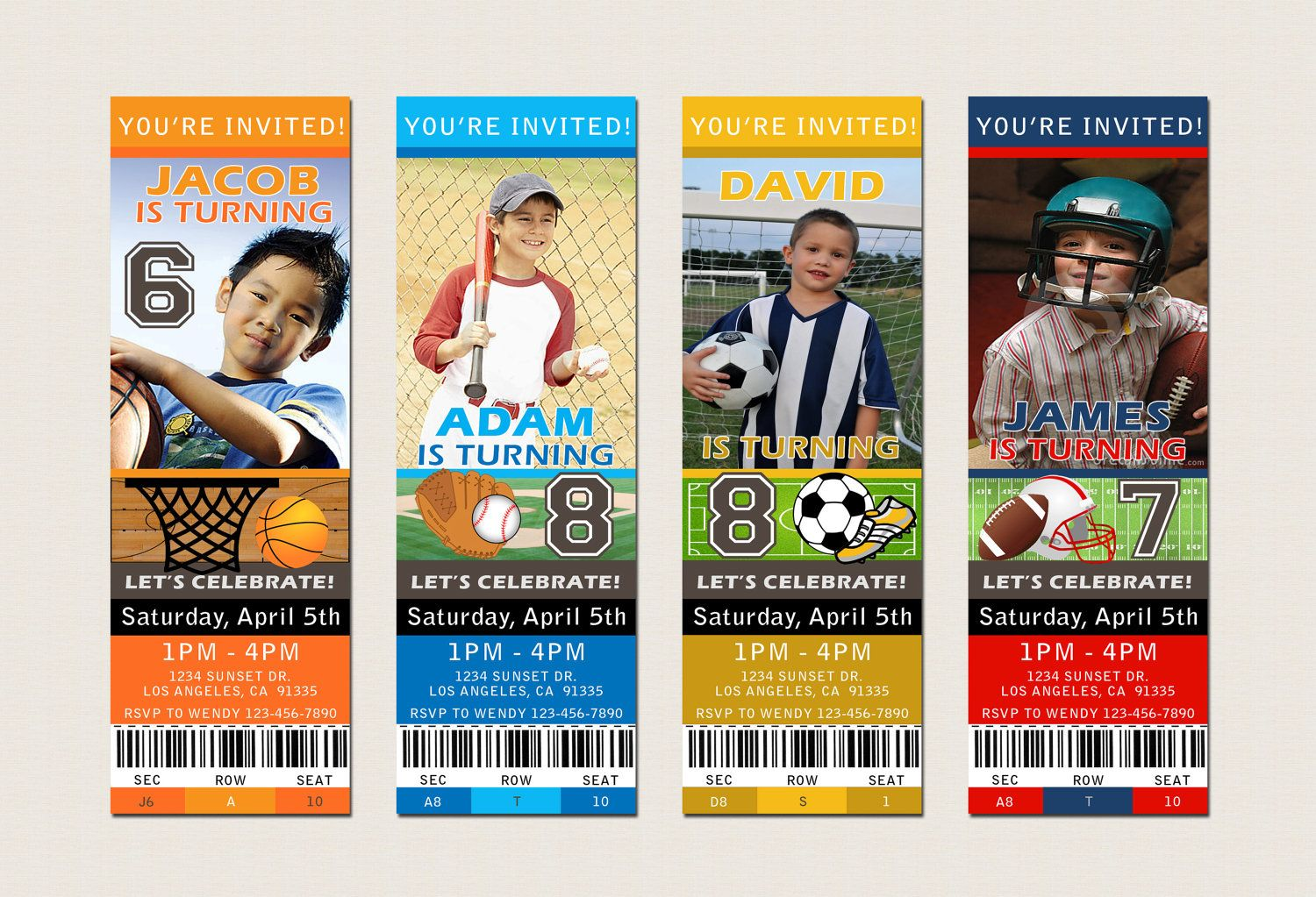 1000 images about Party ideas – Sports Themed Birthday Invitations