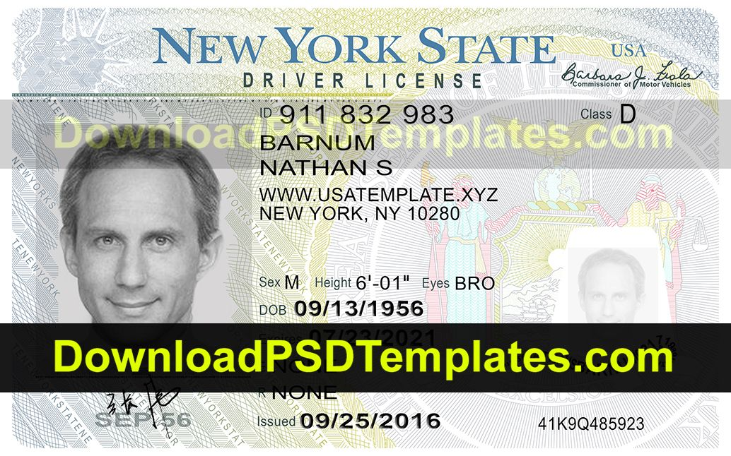 Fake Id Card Maker Online Driver License Psd Templates Download Psd Templates Drivers License Drivers Permit Driving License