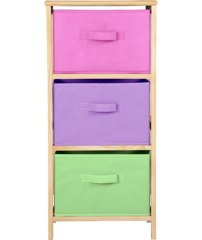 Buy 3 Drawer Canvas Storage Unit Girls At Argos Co Uk