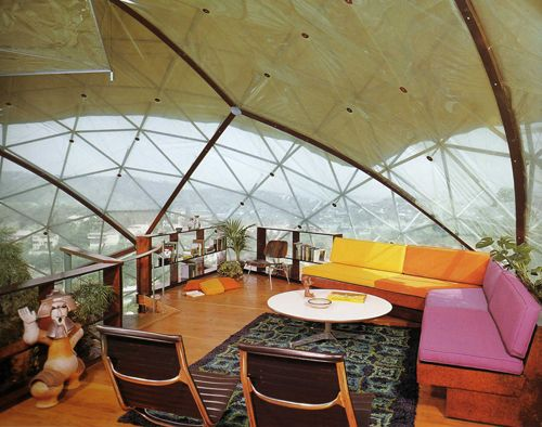 Geodesic Interior From Randomfriendly Via Nomadicway From Tumblr - Interior design dome home