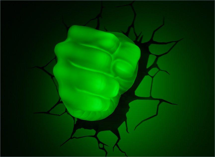 At Night Avengers 3D Deco Light # Hulk Fist