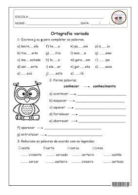 Ortografia Variada Palavras Para Ditado Atividades De