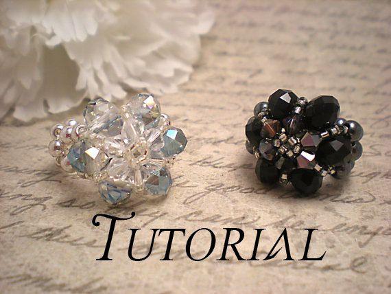 Tutorial Pdf Right Angle Weave Swarovski Crystal Flower Stretch