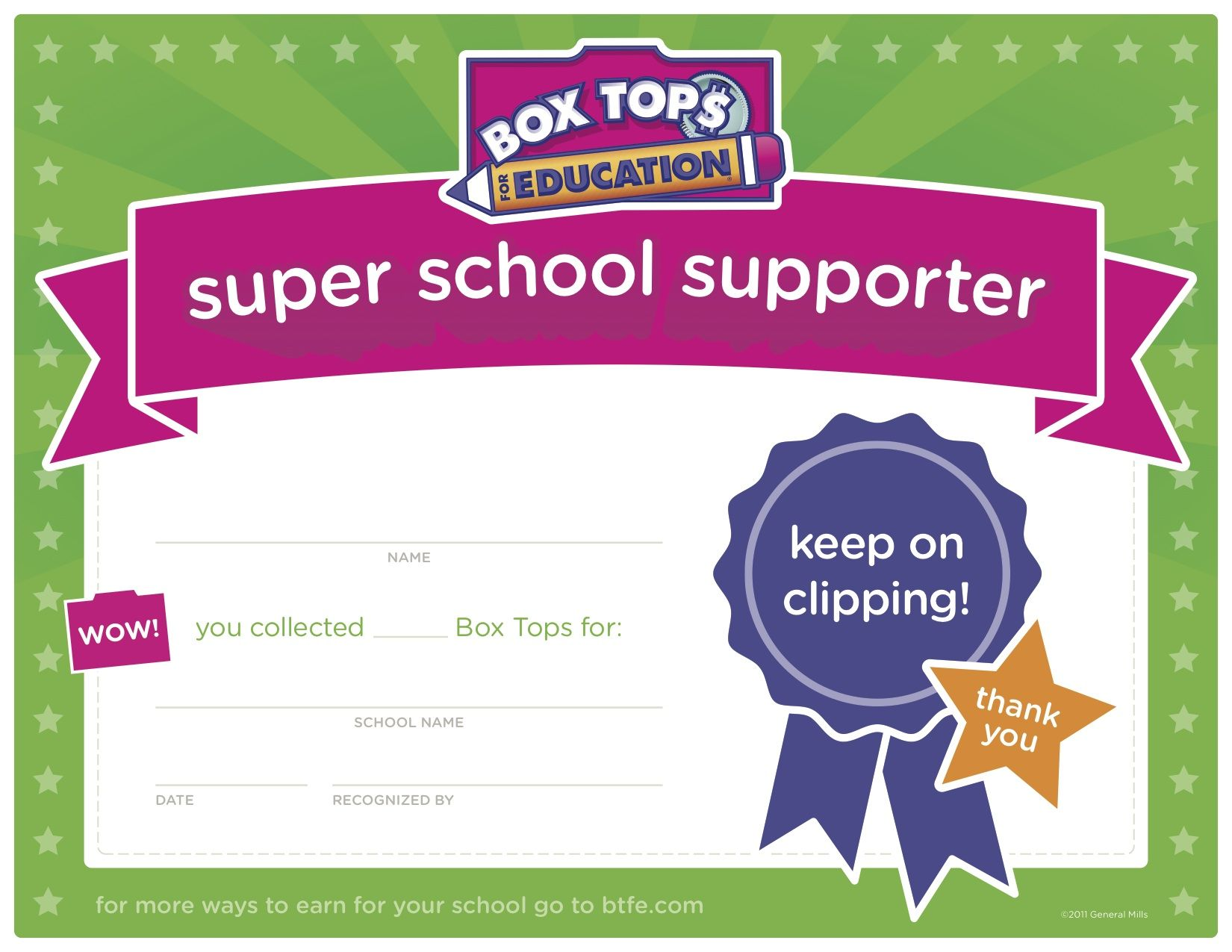 Great For A Box Tops Contest At School