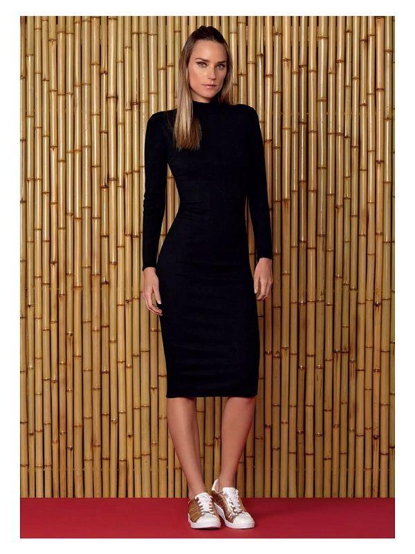 44fce741d Vestido Midi Manga Longa Preto Lez a Lez | Fashion life | Vestido ...