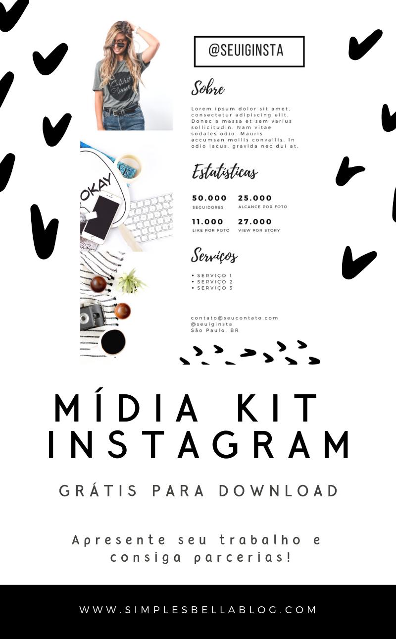 Mídia Kit para Instagram - Baixe grátis! | Mídias Sociais ...