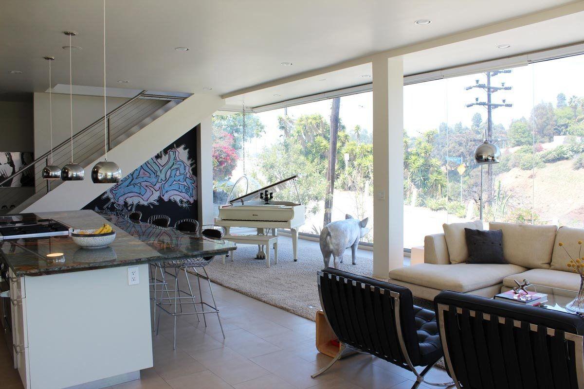 Alexis modern glass house