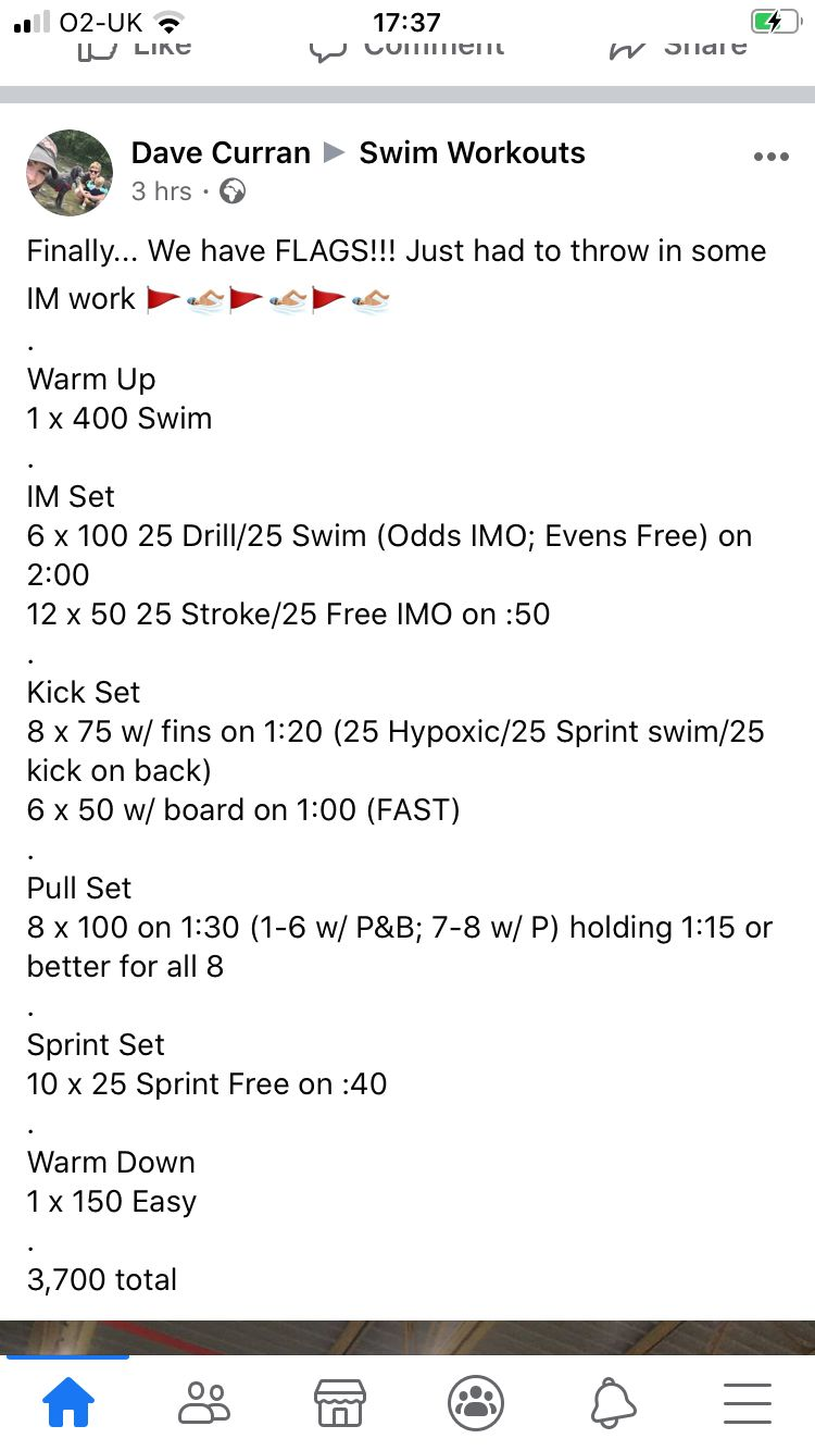 Pin On One Hour Swim Workouts