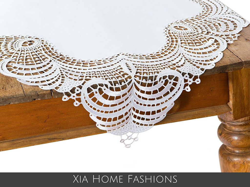 Our Dainty Lace Collection Is Vintage Chic And Perfect For Weddings Lace Table Lace Table Runners Traditional Tablecloths