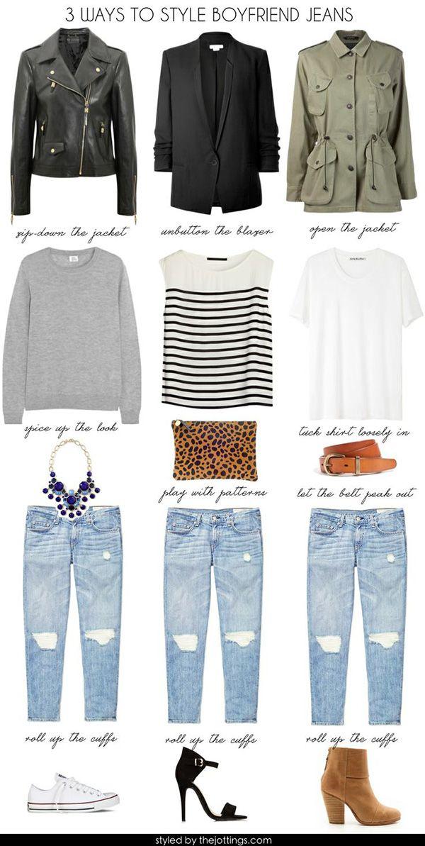 20 Style Tips On How To Wear Boyfriend Jeans | Style, Boyfriends ...