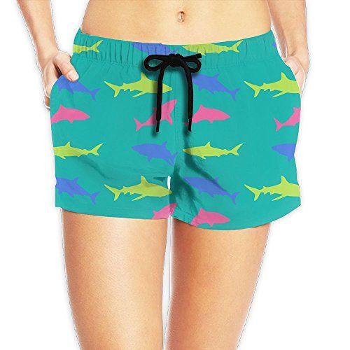 ... 9f520 2f75d Bjbplinjiud Cool Shark Silky Beach Pants For Women Womens  Seaside Swim Shorts Beach Shorts ... 1e5da7def2