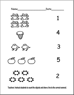 Worksheets Pre K Worksheets pre k counting worksheets 2 dot numbers pinterest 2