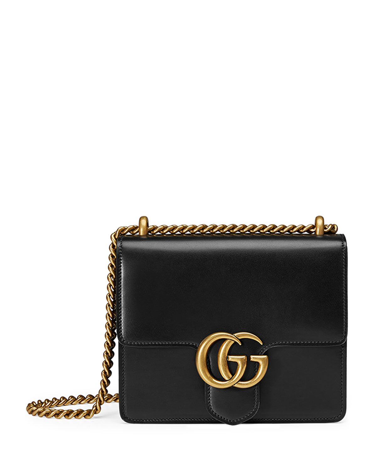 4bec3979941b Gucci GG Marmont Small Leather Shoulder Bag, Black, Women's ...
