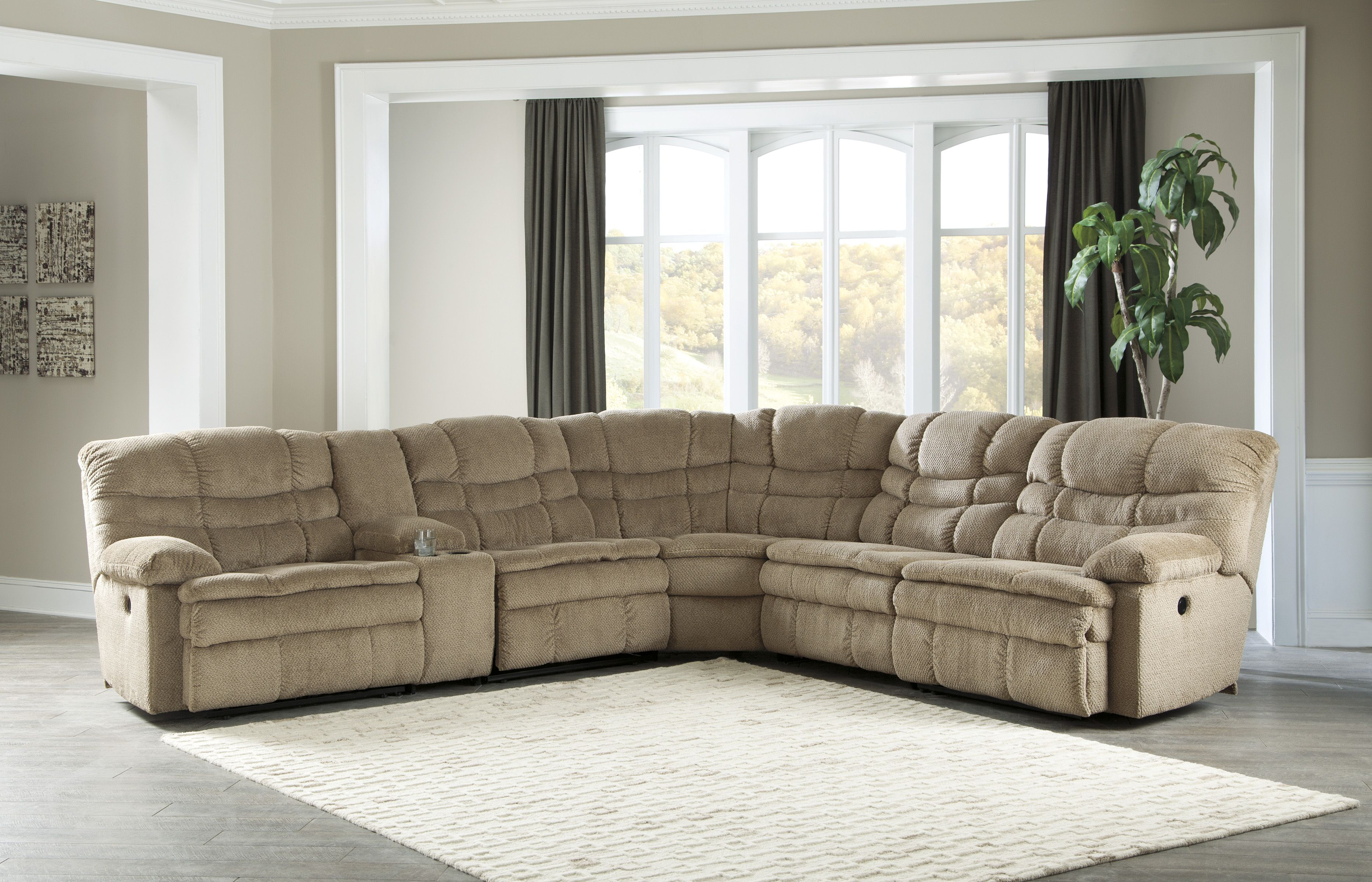 Ashley Series 663 Sectional Sofa Couch Reclining Sectional Sectional Sofa