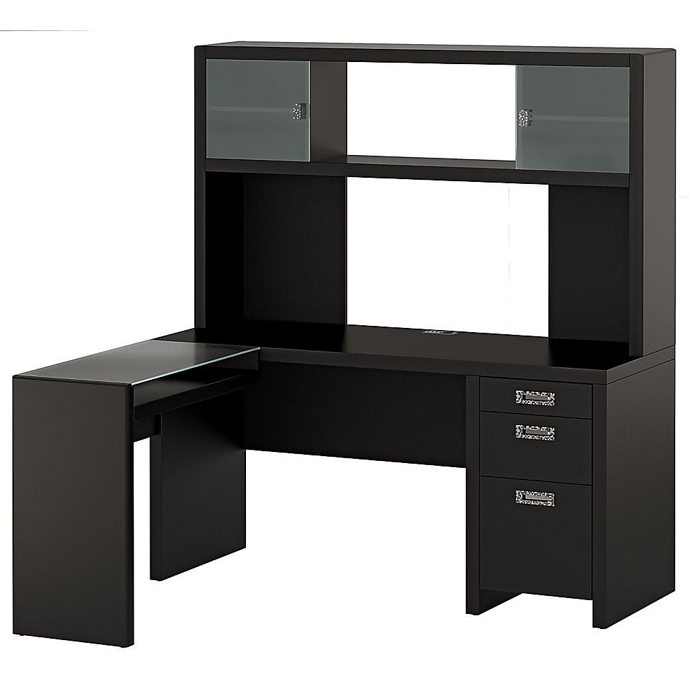 "Home Office Furniture Manufacturers: Kathy Ireland Office By Bush New York Skyline 60"" L-Desk"
